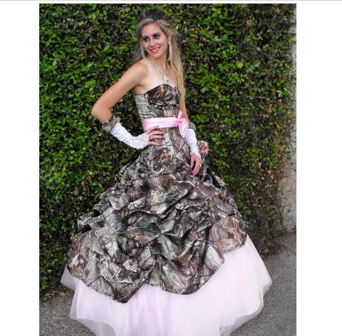 Country Camo Wedding Dress Cheap Lace