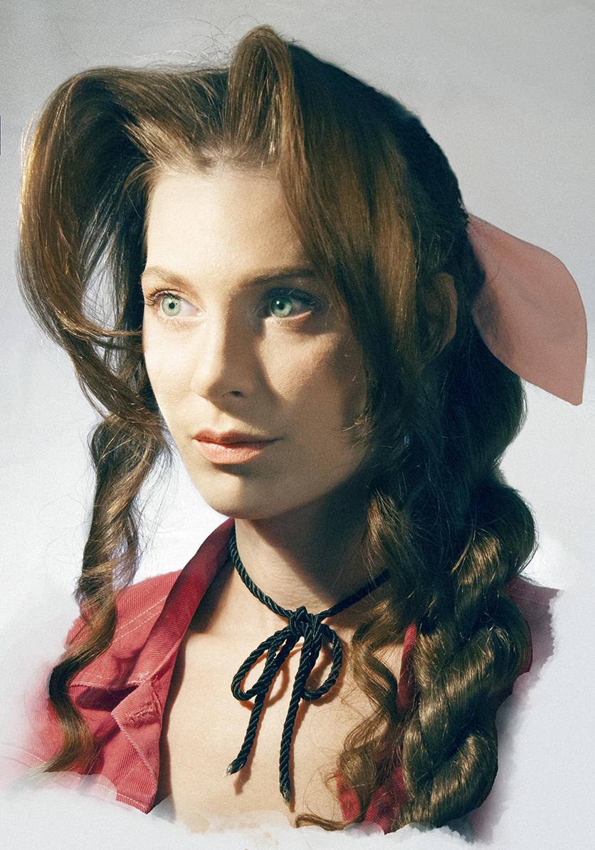 aerith gainsborough portrait cosplay print adella s cosplay print