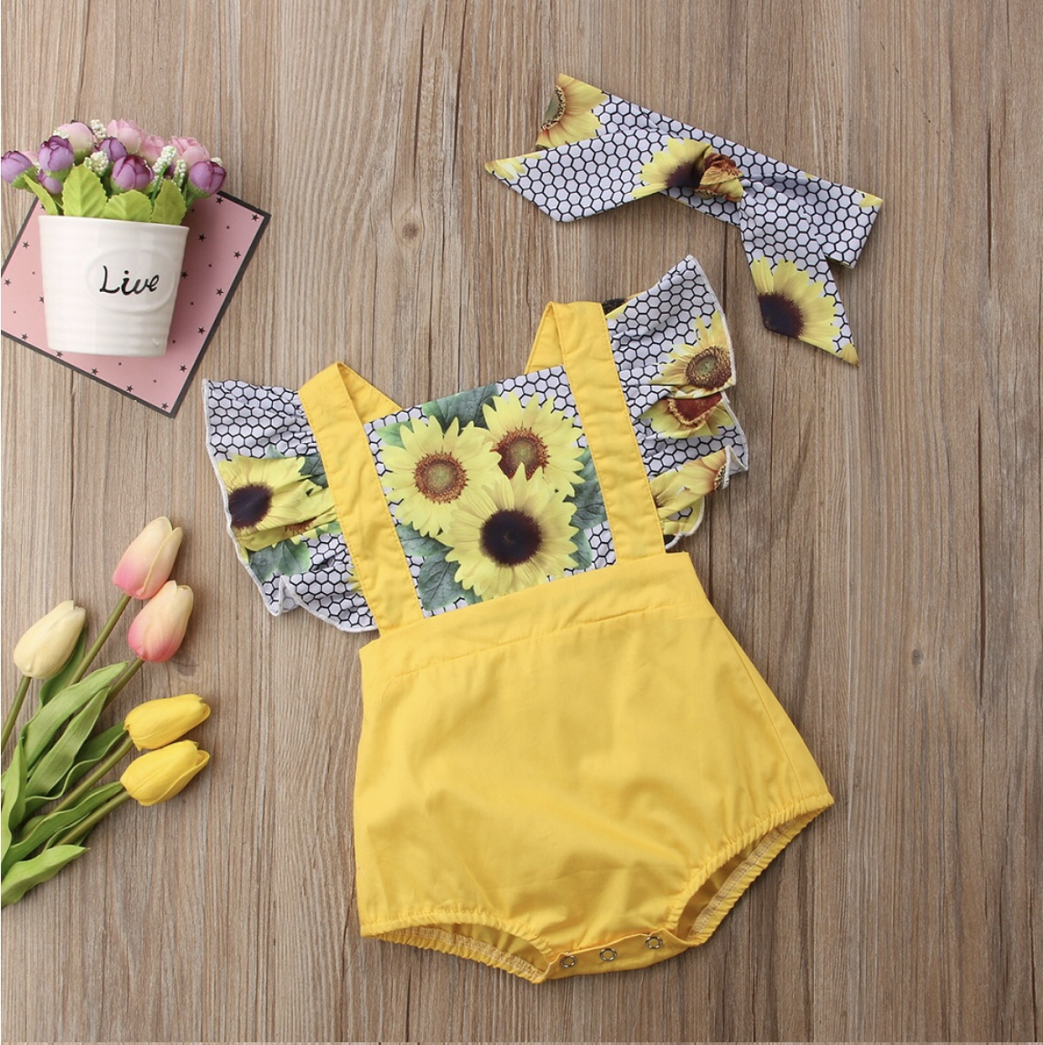 9a4fc5ece19 Sunflower Bliss Romper · Isabella Iris Boutique · Online Store ...