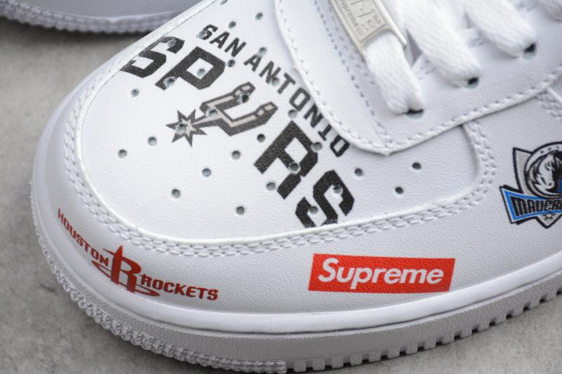 sale retailer b647b 88a9e ... Nike x Supreme x NBA Air Force 1 Mid 07 white AF1 sneakers - Thumbnail  2 ...