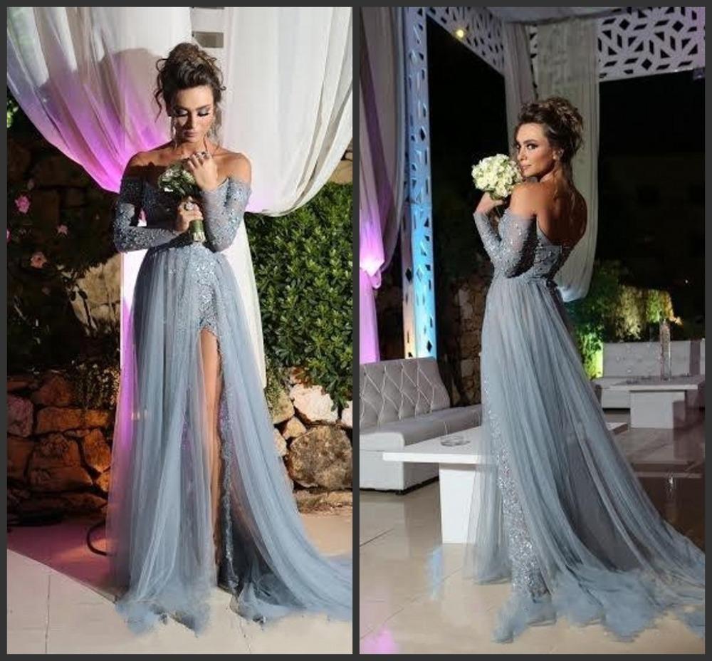 d3a1f574c9dbb Grey Evening Dresses With Sleeves | Saddha