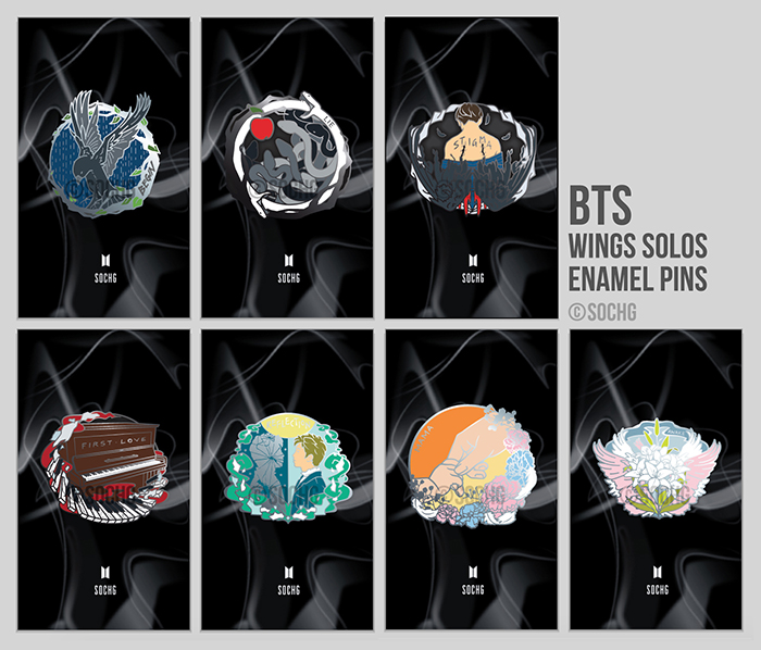 Rubber Wedding Band >> BTS / Wings Solo Enamel Pins on Storenvy