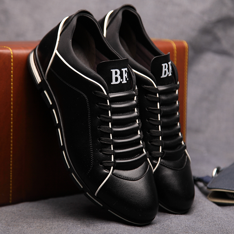 7c04cc03b Big Size Luxury Leather Men Casual Shoes Brand New Fashion ...