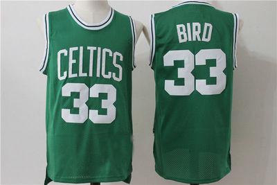 Mens Boston Celtics  33 Larry Bird Basketball Jersey Green ... f6a80e499