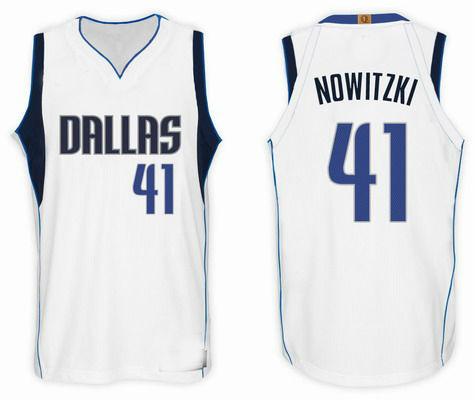 2017-2018 Dallas Mavericks  41 Dirk Nowitzki Basketball Jersey White ... 545bcf904