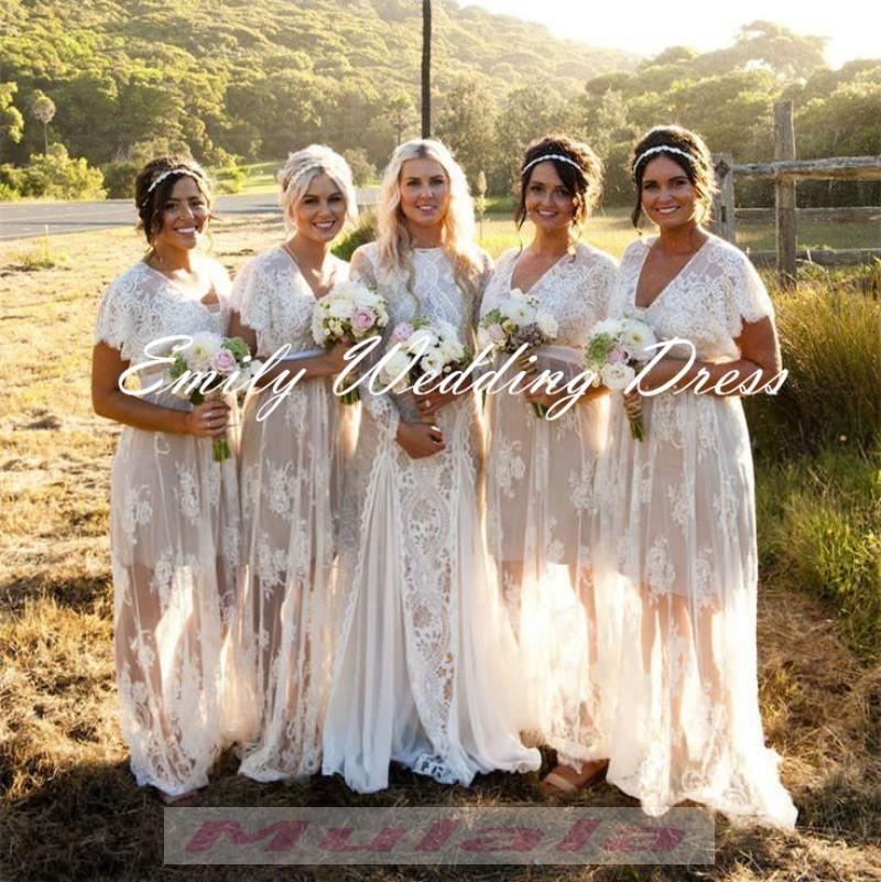 Wedding White Bridesmaid Dresses