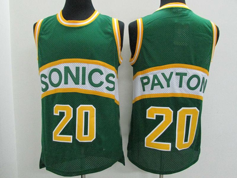 5a8d8c4d6547 Mens Seattle Supersonics  20 Gary Payton Basketball Jersey Green ...