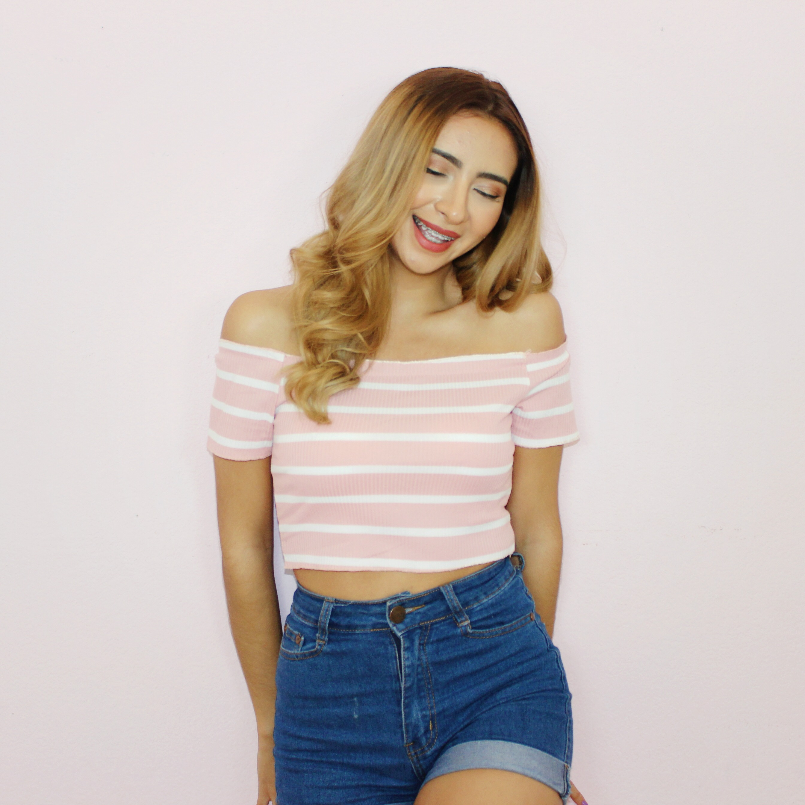 32bce166399 Pink & White Striped Crop Top on Storenvy