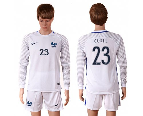 the best attitude a3b35 2e722 France #23 Costil White Goalkeeper Long Sleeves Soccer Country Jersey 2018  sold by soccer2018jerseys