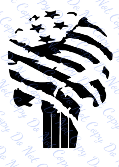 American Made Furniture >> Patriotic Flag Punisher Skull Decal on Storenvy