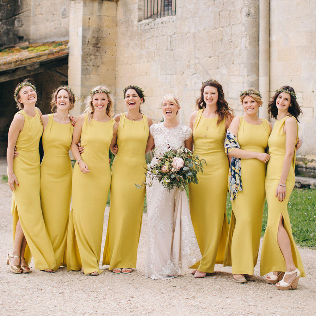 912786a90a23 New Arrival Yellow Mermaid Bridesmaid Dress, Sleeveless Charming Sheath Bridesmaid  Dress,171024 on Storenvy