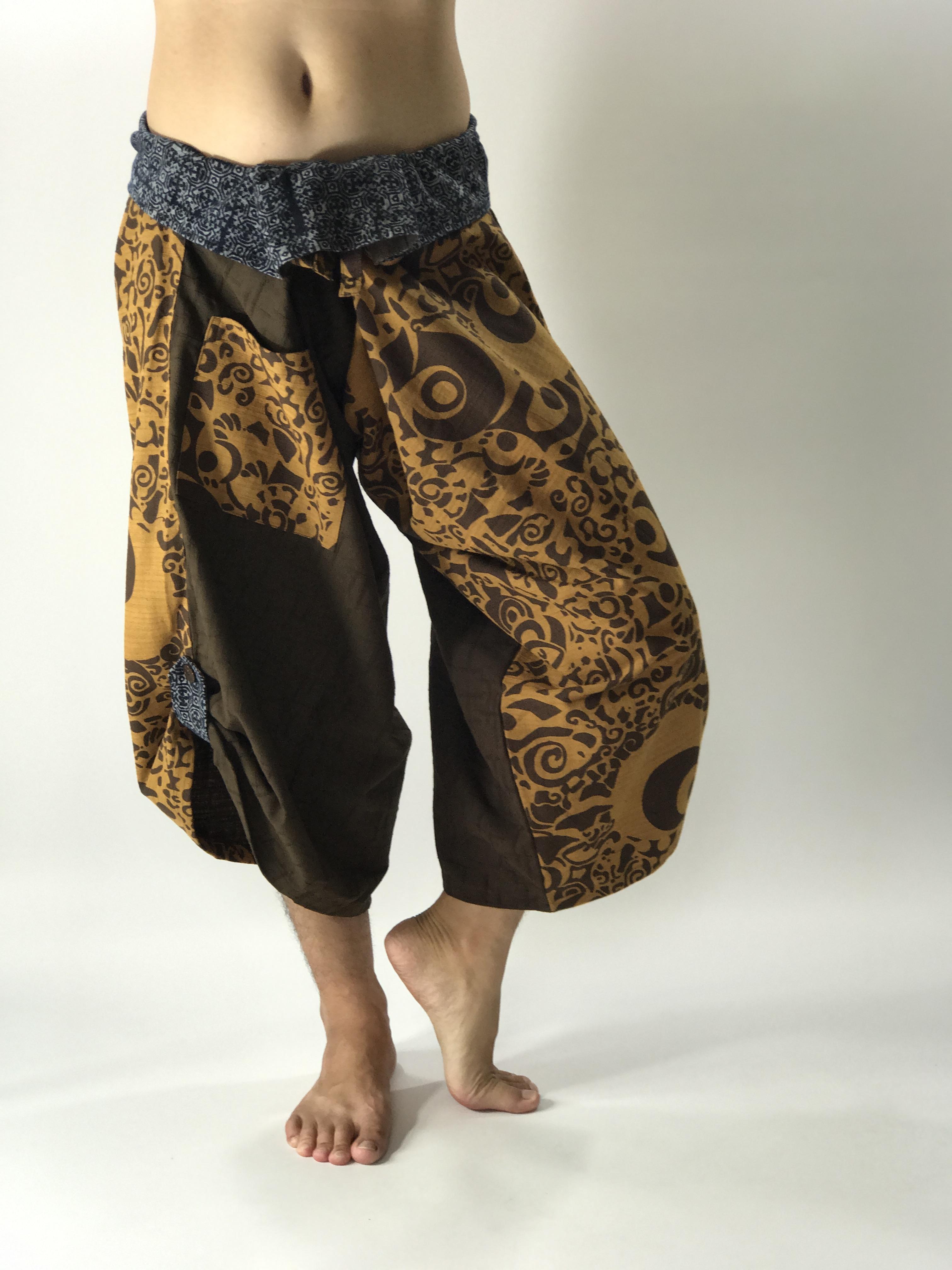SR0452 Samurai Pants Harem pants have fisherman pants style wrap around waist
