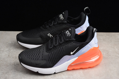 separation shoes e7570 dc75b Nike Air Max 270 Black/White/Orange Womens Running Shoes from Toms