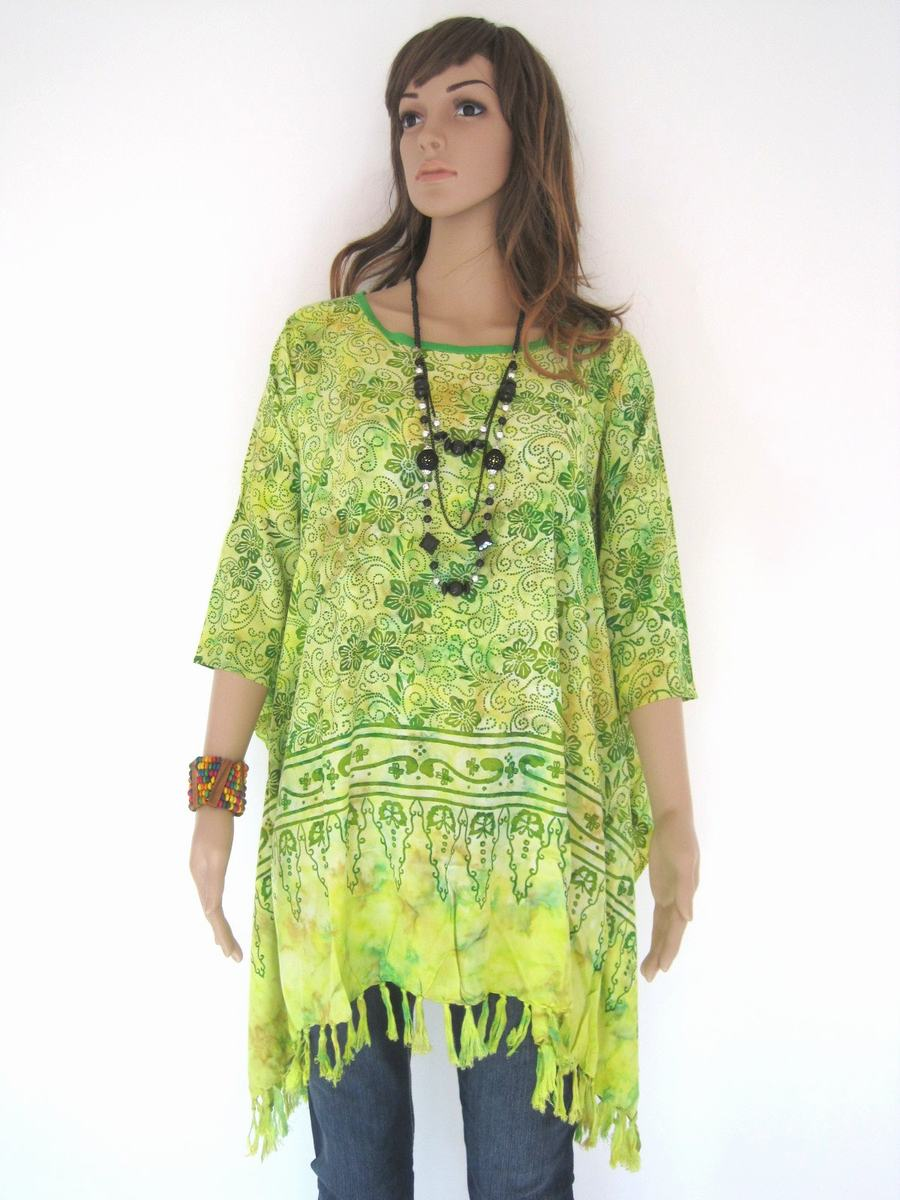 Plus Size, Lime Green, Batik Dress, Tunic Dress, Caftan Dress ...