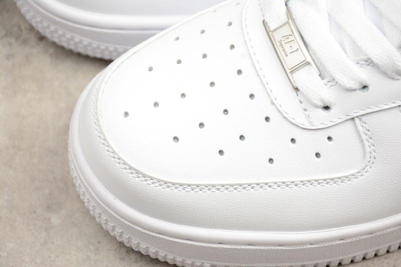 814842b991dc Supreme x CDG x Nike Air Force 1  07 white AF1 Shoes 923044-100 ...