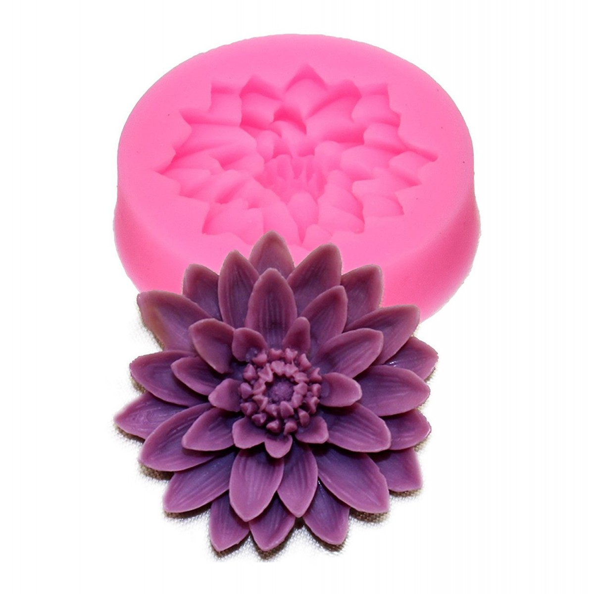 Lotus Flower Silicone Mold Resin And Polymer Clay Mold Cake Mold