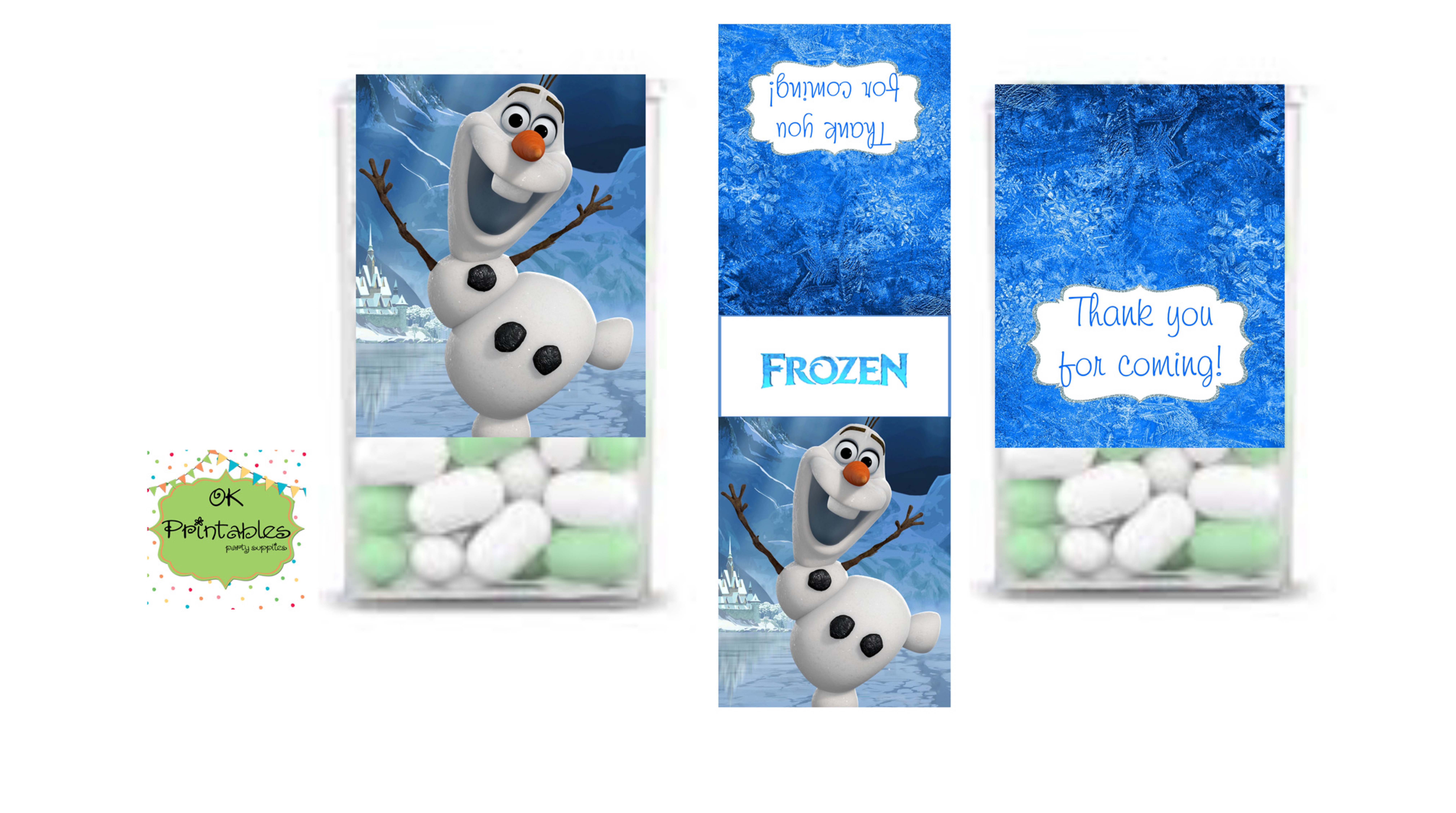 picture about Frozen Printable Labels named TIC TAC Label, Frozen want Social gathering Tic Tac Wrapper, Olaf Celebration Tic Tac Label, Do it yourself, Printable- Tic Tac want label