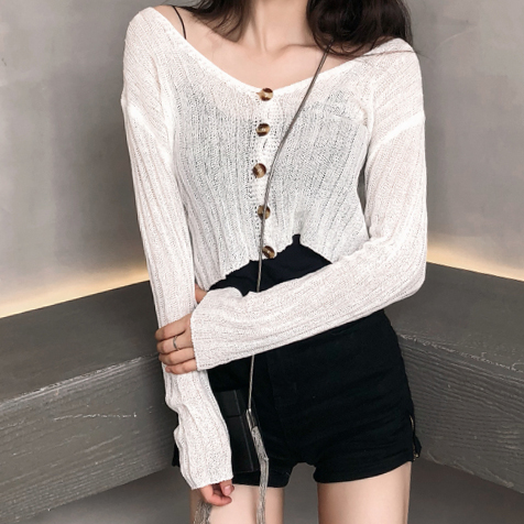 8534c98b9d180 Button Up Cropped Sweater (7 Colors) · Megoosta Fashion · Free ...