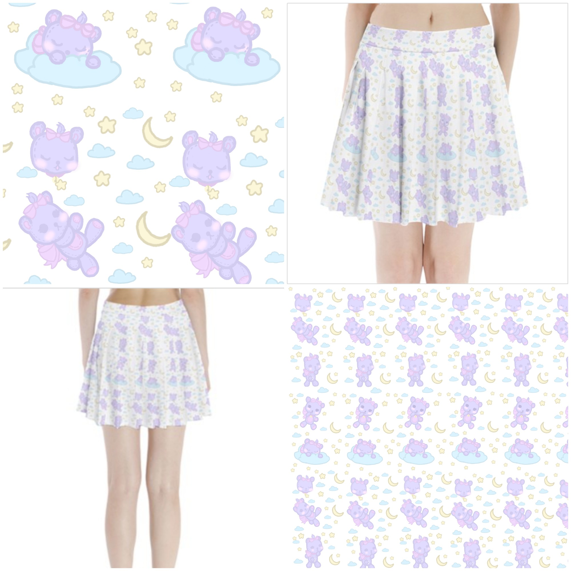 25775d34f9a Sleepy Kuma School Girl Skirt on Storenvy