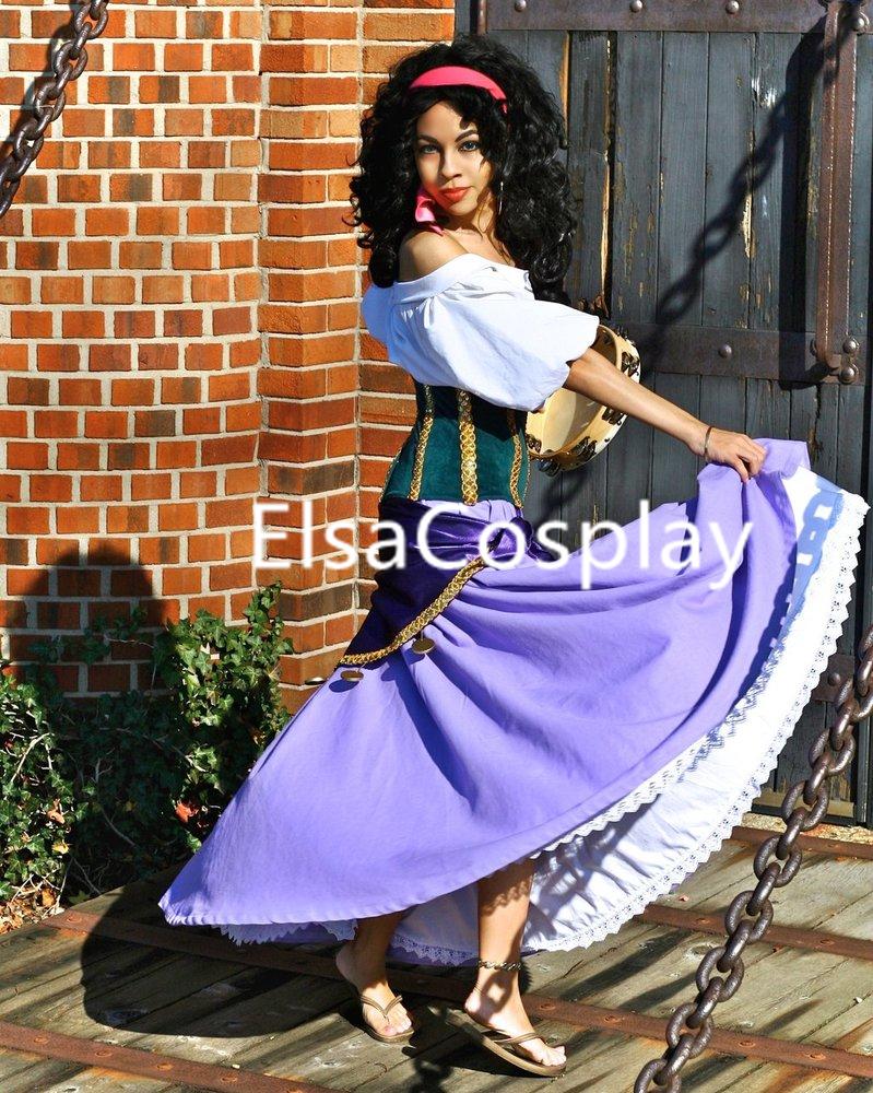 Costume Halloween Esmeralda.Esmeralda Dress Cosplay Costume Esmeralda Costume Halloween Costume For Adult From Elsacosplay