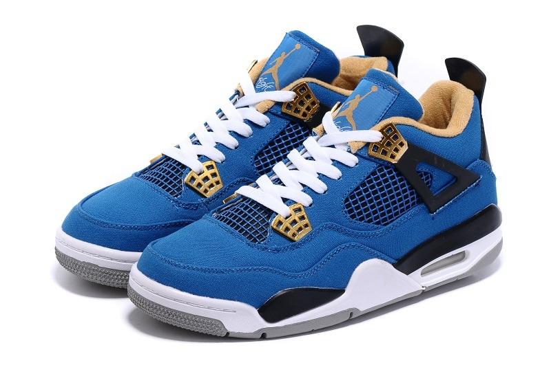 more photos 0a9d8 a24eb Eminem x Carhartt x Nike Air Jordan 4 Retro Blue Shoes