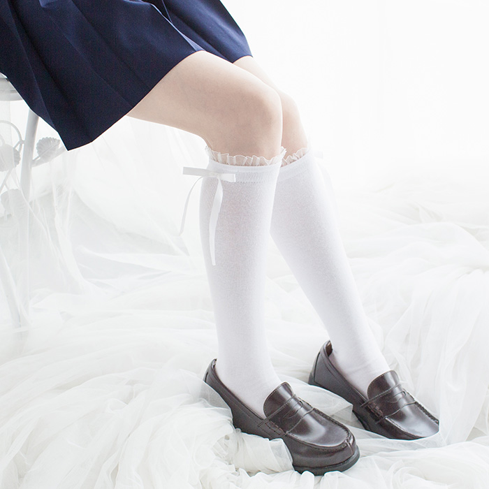 93104d1f5b2 Lolita Bow Medium Stockings Japanese Socks on Storenvy