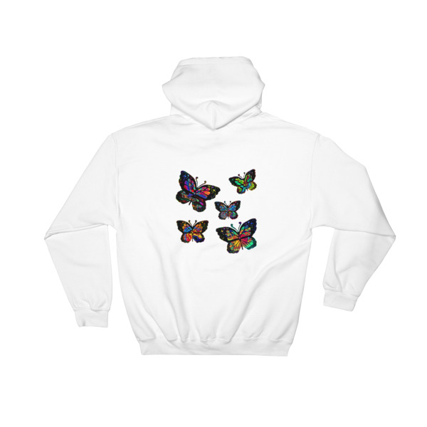 Psychedelic Butterflies Hooded Sweatshirt on Storenvy e4700cc20
