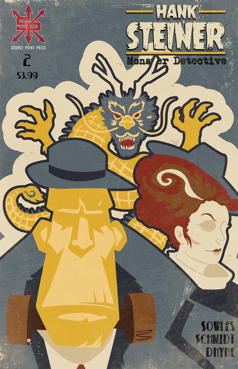Hank Steiner: Monster Detective #2 from Source Point Press