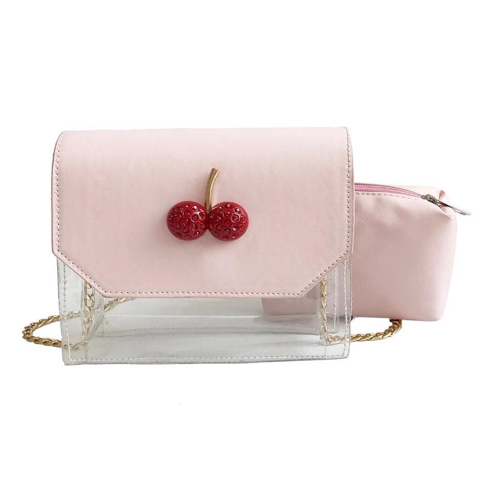 5f37e31fd676 Cherry Clear Crossbody Bag