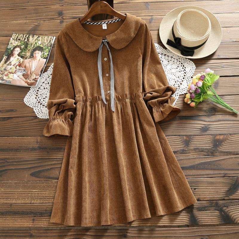 03f142c014c Cute Corduroy Solid Color Kawaii Long Sleeve Dresses on Storenvy