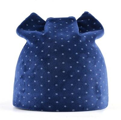 59da31fab4e Winter Beanies Women Dots Velvet Hat Autumn Cute Cat Bonnet With ...