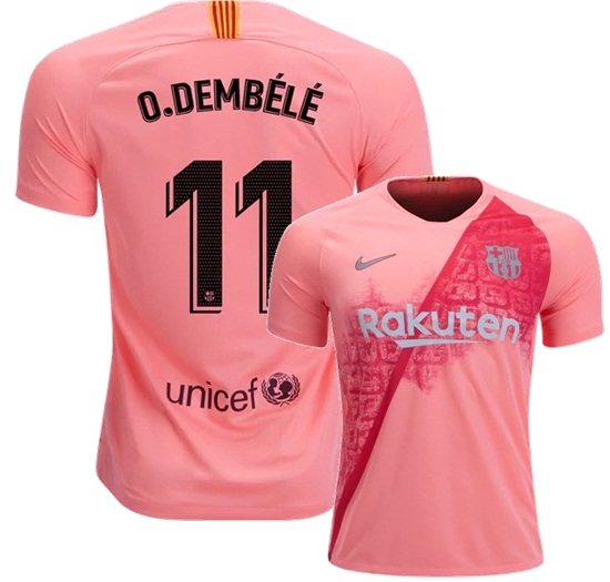 online retailer e9c5b d5916 Ousmane Dembele #11 Men 2018/19 FC Barcelona Third Stadium Football Shirt  from SportsWorld2016