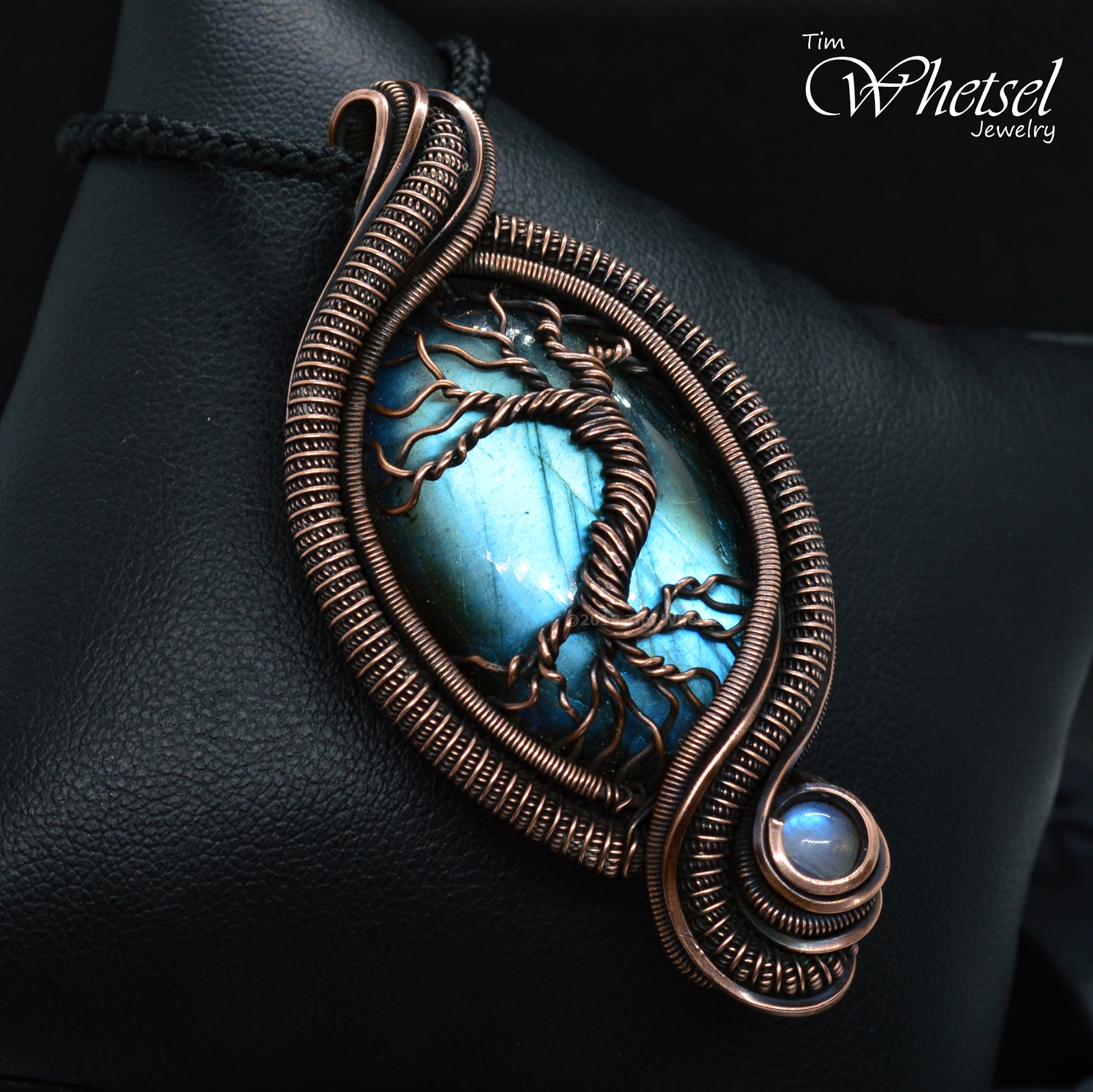 Copper Wire Wrapped Tree Of Life Pendant Labradorite Necklace