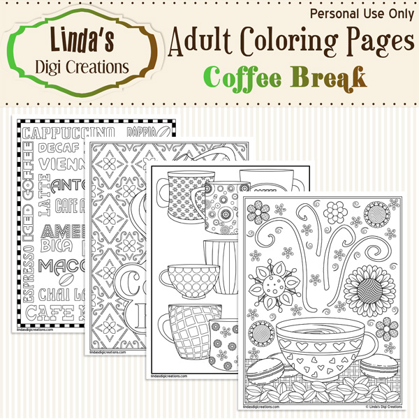 Coffee and Chocolate – Favoreads Coloring Club | 600x600