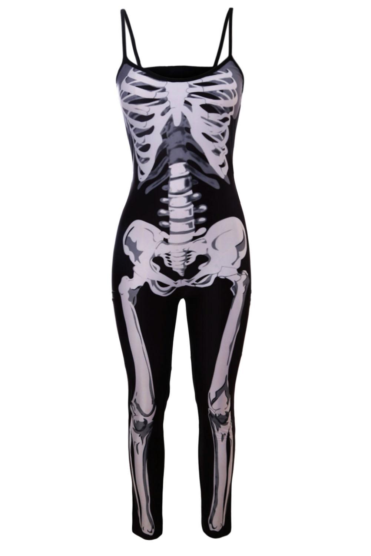 Skeleton Jumpsuit Halloween Costume - raveitsafe