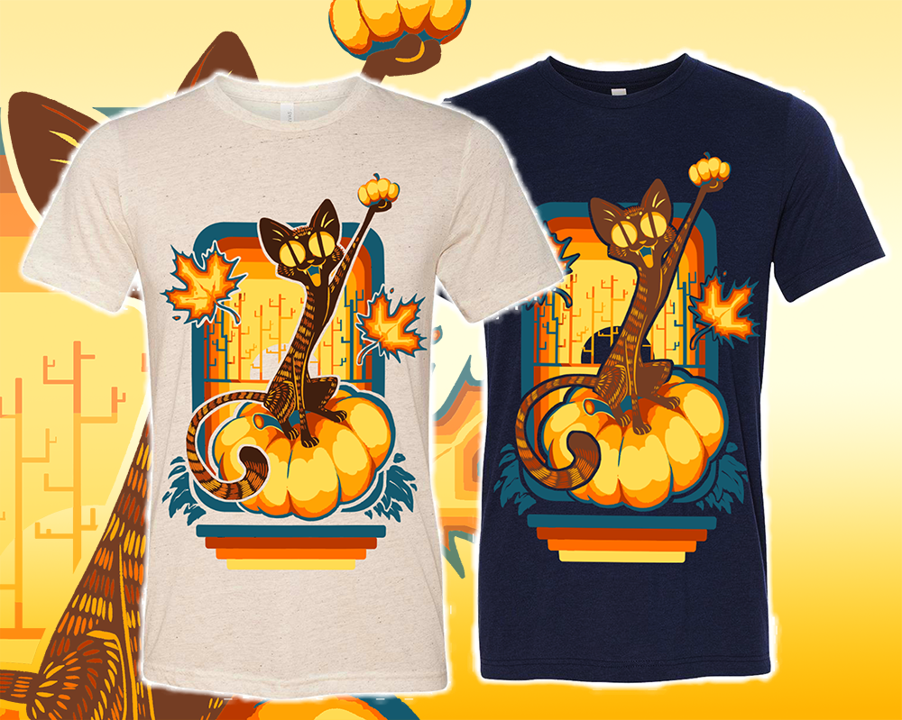 Pumpkin Cat Fall Themed T Shirts Artkour Online Store Powered By
