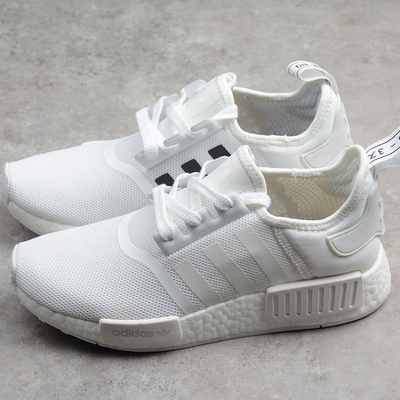 fa53ccd9331ca Fashion adidas nmd boost r1 white black runner shoes cq2411 - Thumbnail 2