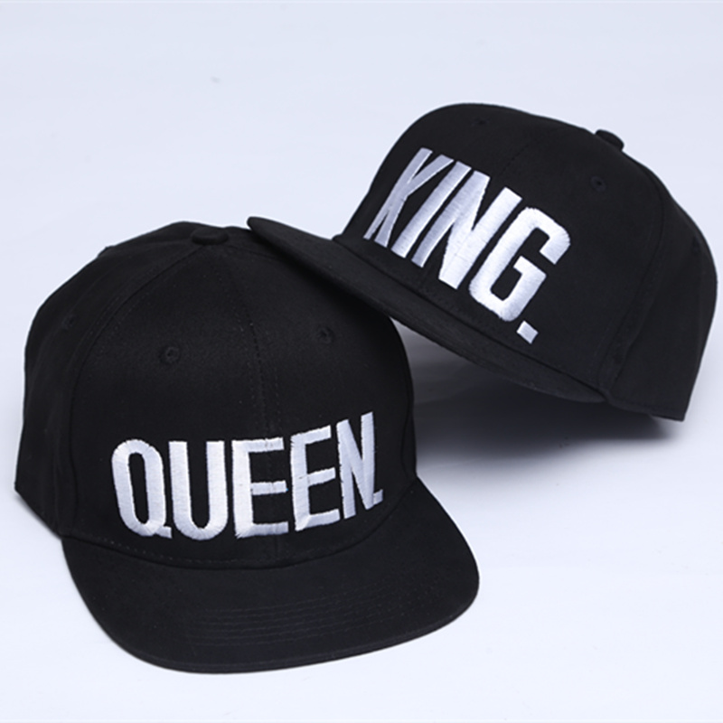 f1229869cdc53 KING QUEEN Embroidery Snapback Hat Acrylic Men Women Couple 2 pieces -  Thumbnail ...
