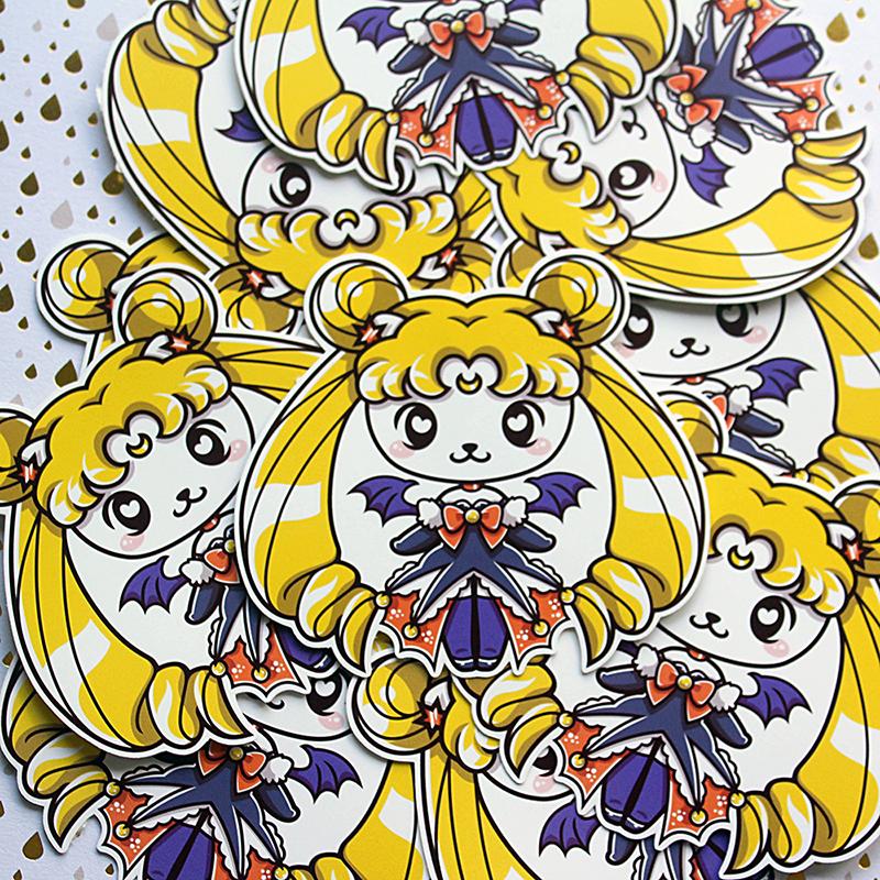 Nya Nya Neko Halloween Usagi Glossy Vinyl Sticker sold by Gilles Bone