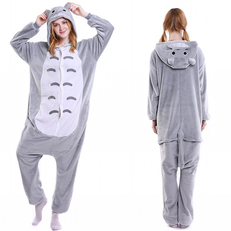 Unisex Adult Totoro Onesies Animal Cosplay Costume Halloween Xmas Pajamas 191e04a64