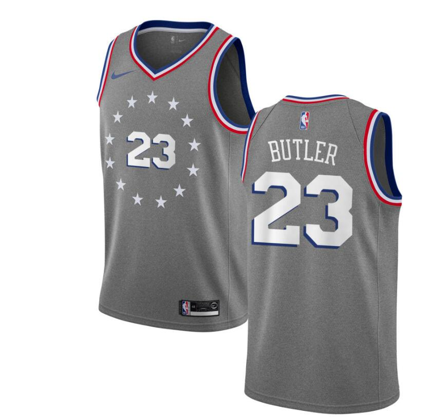 low priced 54987 e6308 2019 Men's Philadelphia 76ers #23 Jimmy Butler Basketball Jersey-City  Edition from teamjerseyinc