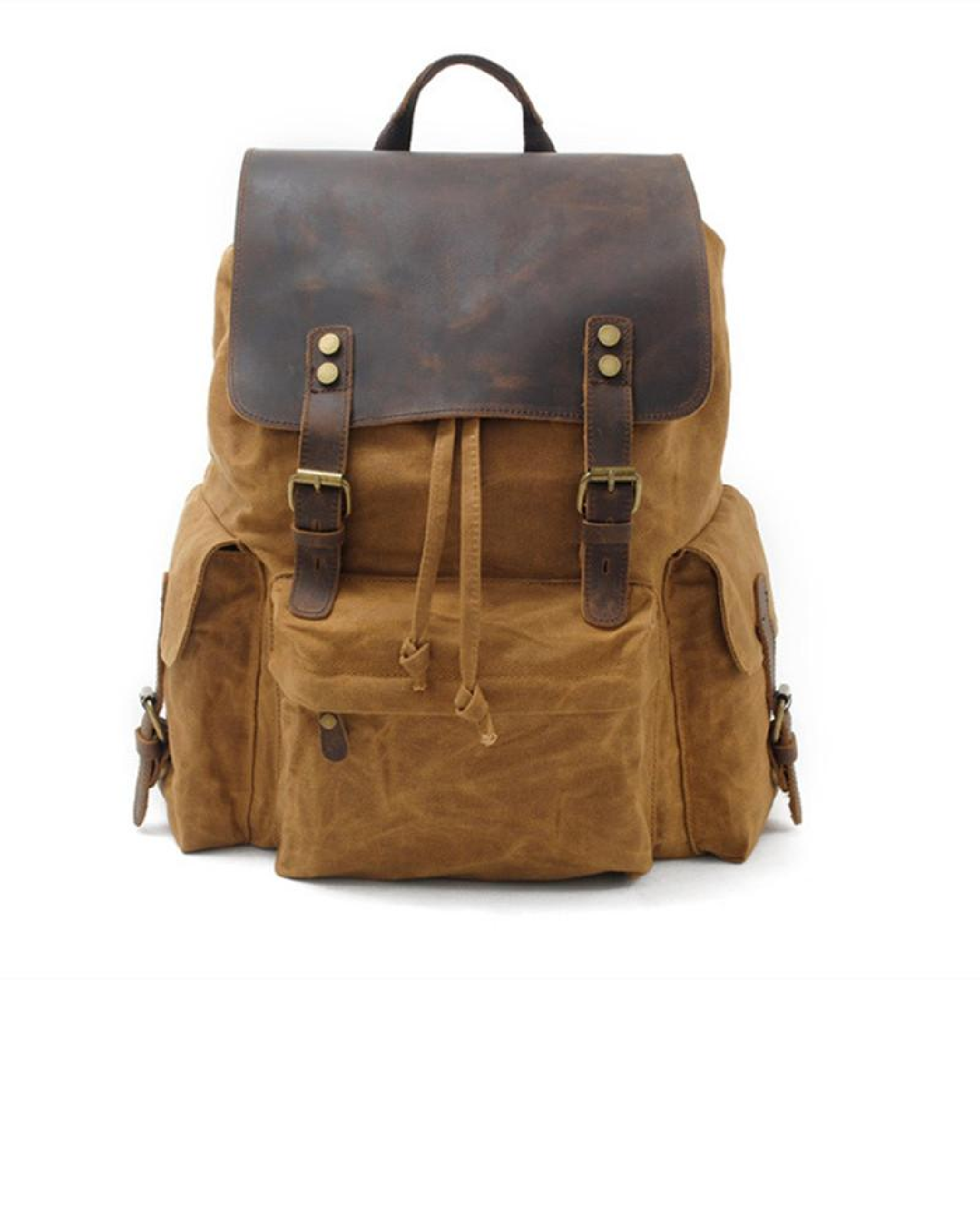 NEW Men Vintage Army Backpack Student Travel School Canvas Bag Laptop 2 Sizes
