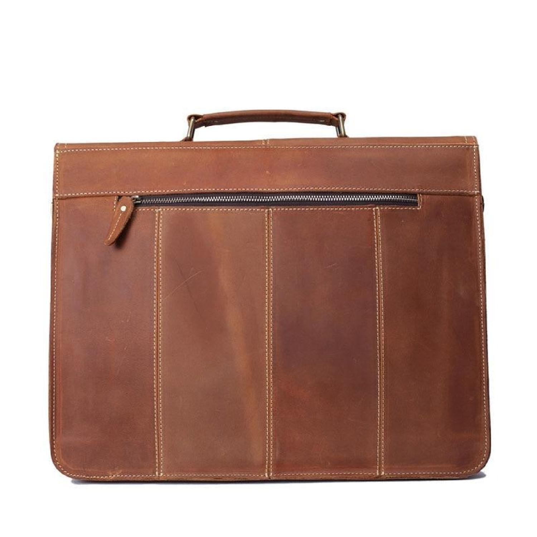 ... Bag Leather Vintage Laptop Messenger Briefcase Men Satchel Genuine  Handmade Shoulder New Brown Man Handbag School ... 02862865b896e