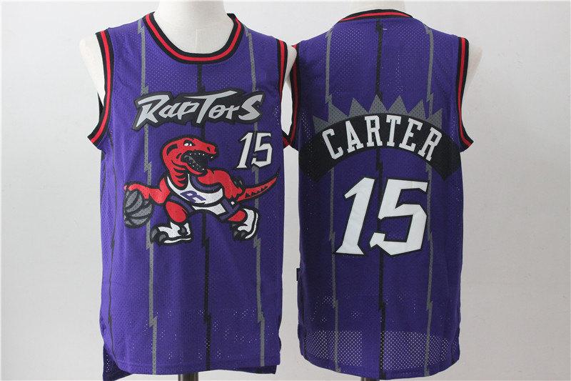 Men s Toronto Raptors Vince Carter Mitchell   Ness Purple Hardwood Classics  Swingman Jersey d1ddcb15a