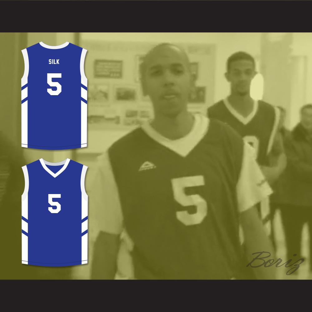 f1f3da84ae2 ... Andre 'Silk' Pool 5 Blue Basketball Jersey Dennis Rodman's Big Bang in  PyongYang ...