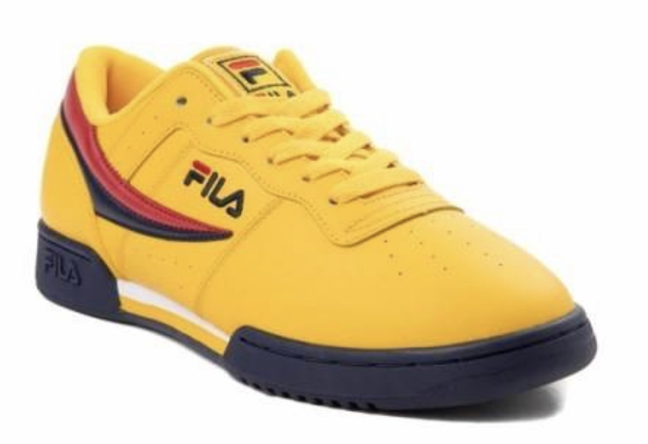 Mens Yellow Fila Original Fitness