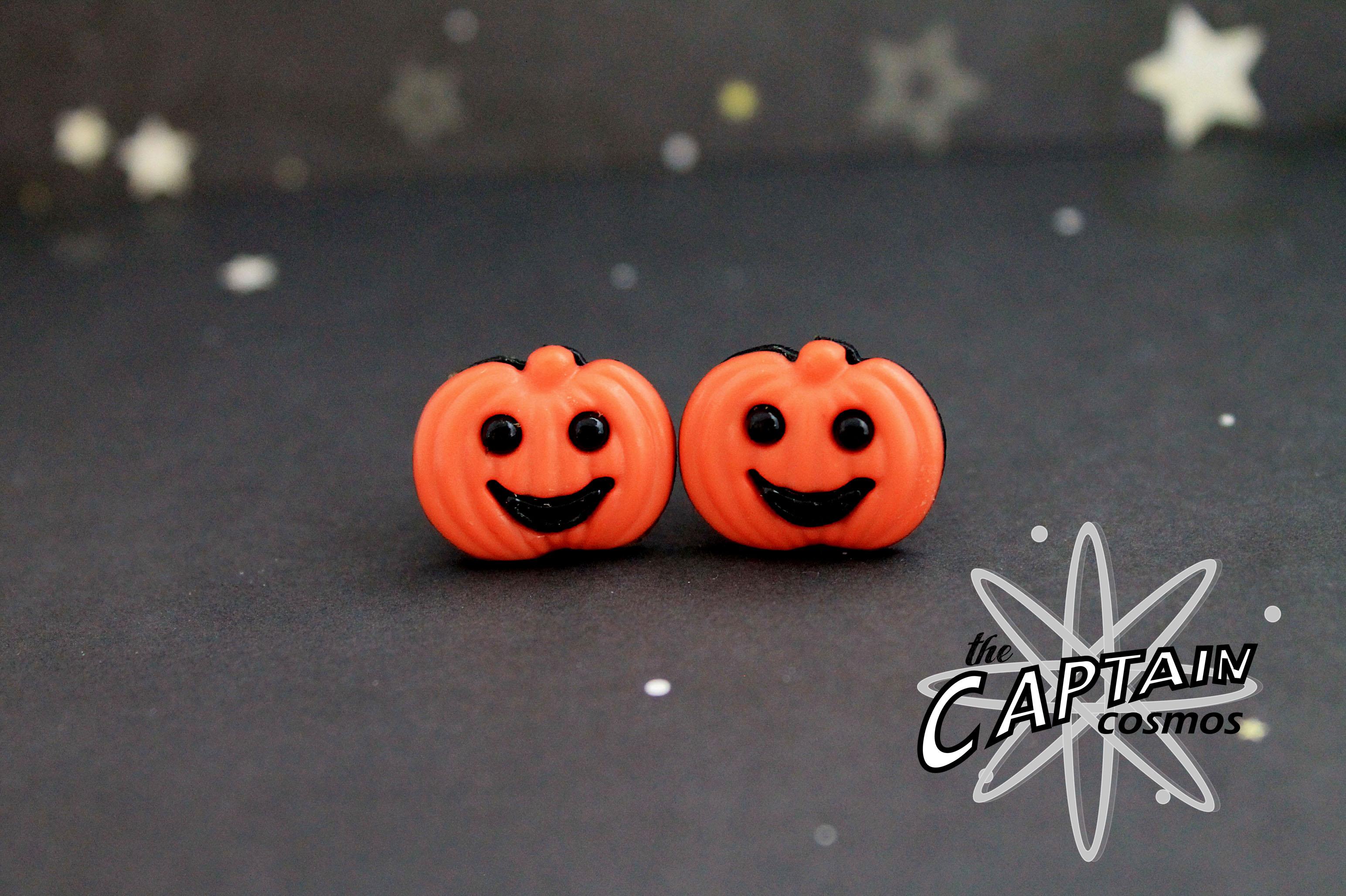 Pumpkin plugs for gauged ears, 8mm, 8g, Halloween gauges, bodmod ...