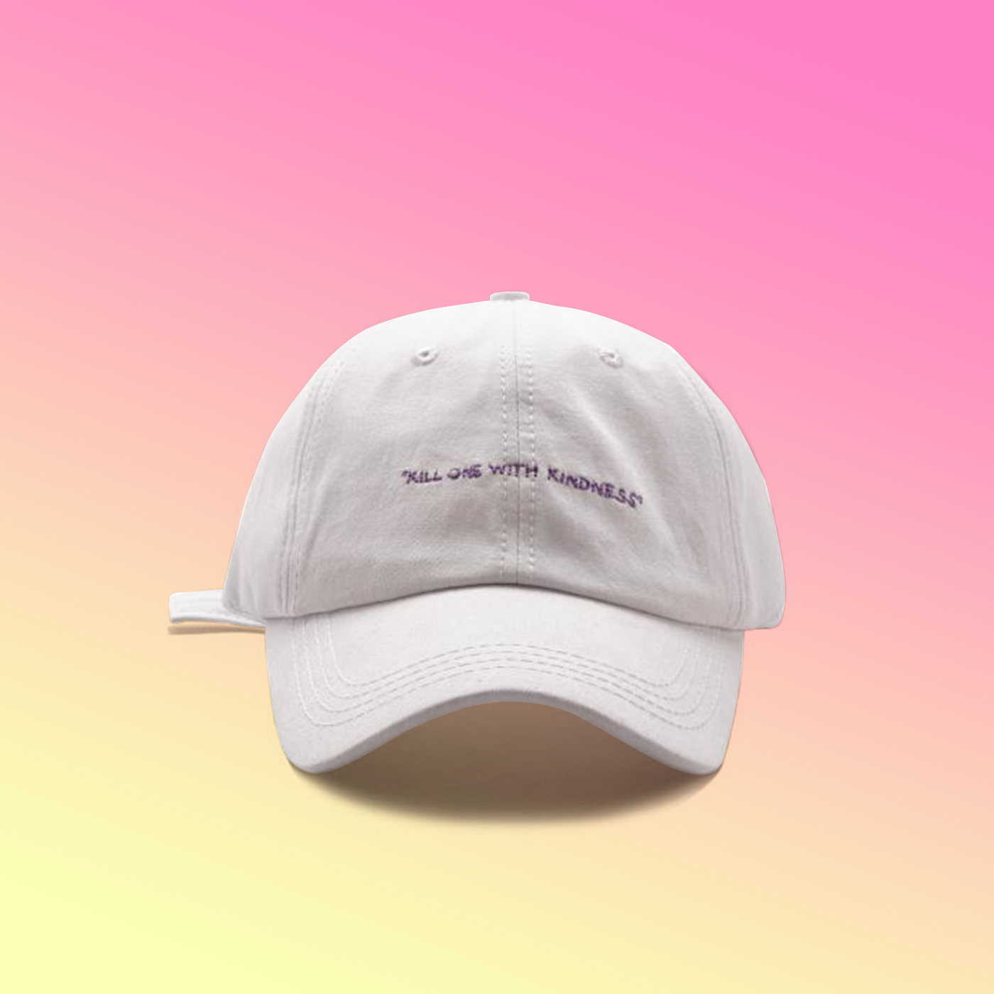 787add7e95c KILL ONE WITH KINDNESS BASEBALL CAP WHITE · soldrelax · Online Store ...
