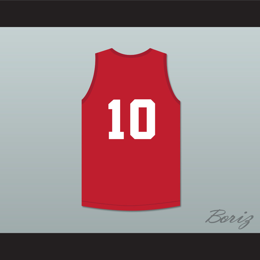 0262de1b8 Troy Bolton 10 East High School Wildcats Red Practice Basketball Jersey -  Thumbnail ...