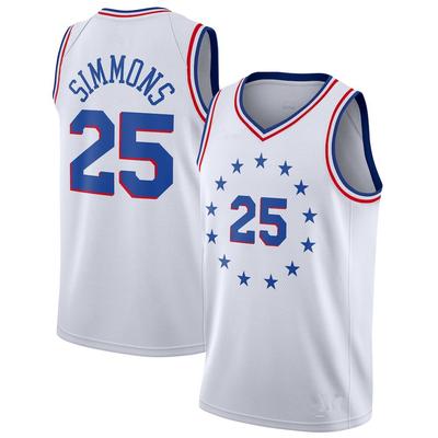 Men s philadelphia 76ers  25 ben simmons white jersey 2018 19 earned  edition - Thumbnail 4dac41372